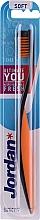 Düfte, Parfümerie und Kosmetik Zahnbürste weich Ultimate You schwarz-orange - Jordan Ultimate You Soft