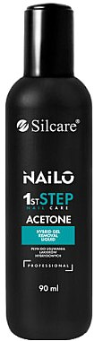 Aceton zum Entfernen von Acrylnägel und Klebstoff - Silcare Nailo Aceton 1st Step Nail Care — Bild N1