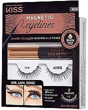 Düfte, Parfümerie und Kosmetik Make-up Set (Magnetischer Eyeliner 5g + Künstliche Wimpern) - Kiss Magnetic Eyeliner & Lash Kit Lure