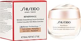 Düfte, Parfümerie und Kosmetik Reichhaltige glättende Anti-Falten Gesichtscreme - Shiseido Benefiance Wrinkle Smoothing Cream Enriched