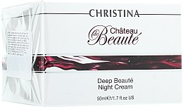 Düfte, Parfümerie und Kosmetik Revitalisierende verjüngende Nachtcreme - Christina Chateau de Beaute Deep Beaute Night Cream