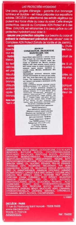 Sonnenschutzmilch mit Tahiti-Vanille und Rosenöl SPF 30 - Decleor Aroma Sun Expert Protective Hydrating Milk SPF 30 — Bild N3