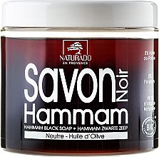 Schwarze Seife mit Olivenöl - Naturado Black Soap Hammam With Olive Oil — Bild N1