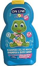 Düfte, Parfümerie und Kosmetik 2in1 Shampoo und Duschgel für Kinder mit Kaugummiduft - On Line Kids Bubble Gum Shampoo & Body Wash