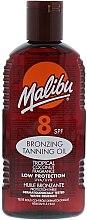 Düfte, Parfümerie und Kosmetik Bräunungsöl mit Kokosnuss SPF 8 - Malibu Bronzing Tanning Oil with Tropical Coconut Fragrance SPF 8