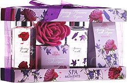 Düfte, Parfümerie und Kosmetik Körperpflegeset - Spa Moments Spring Flowers With Argan (Duschgel 100ml + Badesalz 50g + Duschgel 100ml + Badesalz 50g)