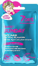 Düfte, Parfümerie und Kosmetik Entspannende Gesichtsmaske mit Agave und Lotus-Extrakt - 7 Days Perfect Sunday