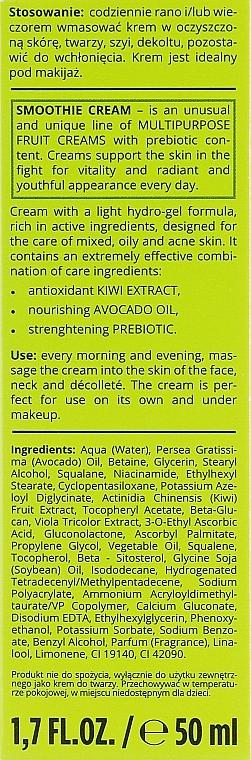 Normalisierende Gesichtscreme mit Avocado und Kiwi - Bielenda Smoothie Cream Avocado And Kiwi — Bild N3