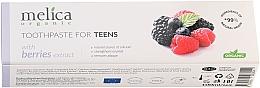 Düfte, Parfümerie und Kosmetik Zahnpasta für Jugendliche 6-14 Jahre mit Beerenextrakt - Melica Organic Toothpaste For Teens With Berries Extract