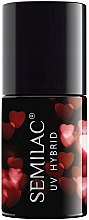 Düfte, Parfümerie und Kosmetik UV Hybrid-Nagellack - Semilac Platinum UV Hybrid Valentine