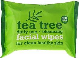 Düfte, Parfümerie und Kosmetik Feuchte Gesichtsreinigungstücher mit Teebaumextrakt - Xpel Marketing Ltd Tea Tree Facial Wipes For Clean Healthy Skin