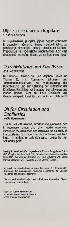 Rosmarinblattöl zur Verbesserung der Mikrozirkulation im Blut - Nikel Oil for Circulation and Capillaries — Bild N3
