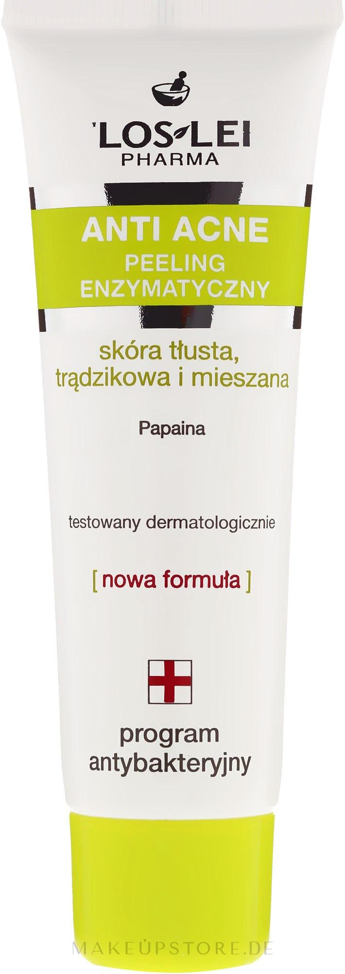 Enzymatisches Anti-Akne Gesichtspeeling für fettige und Mischhaut - Floslek Anti Acne Peeling — Bild 50 ml