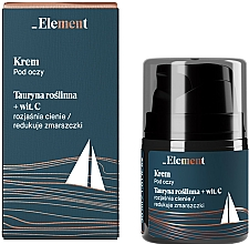 Düfte, Parfümerie und Kosmetik Anti-Falten-Augencreme mit Taurin und Vitamin C - _Element Men Eye Cream