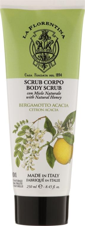 Körperpeeling mit Honig, Bergamotte und Akazie - La Florentina Citron Acacia Body Scrub — Bild N1