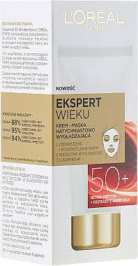 Glättende Creme-Maske für das Gesicht mit Goji-Beeren 50+ - L'Oreal Paris Expert Wieku 50+ — Bild N1