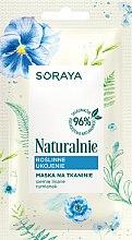 Düfte, Parfümerie und Kosmetik Beruhigende und feuchtigkeitsspendende Tuchmaske mit Leinsamen und Kamille - Soraya Naturalnie Face Mask
