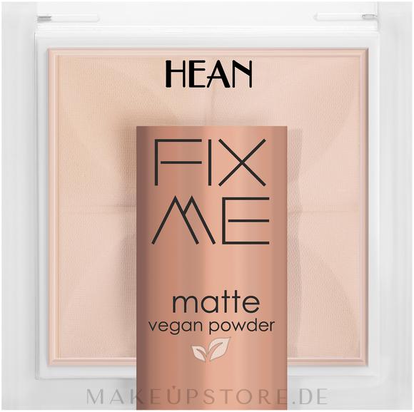 Gesichtspuder - Hean Fix Me Matte Vegan Powder — Bild 60 - Light