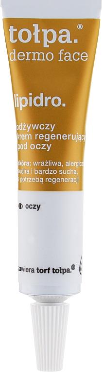 Regenerierende Augenkonturcreme - Tolpa Dermo Face Lipidro Nourishing Regenerating Eye Cream — Bild N1
