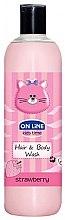 Düfte, Parfümerie und Kosmetik 2in1 Shampoo und Duschgel für Kinder mit Erdbeerduft - On Line Kids Time Hair & Body Wash Strawberry