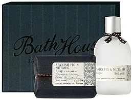 Düfte, Parfümerie und Kosmetik Bath House Spanish Fig and Nutmeg - Duftset (Eau de Cologne 100ml + Seife 150g)