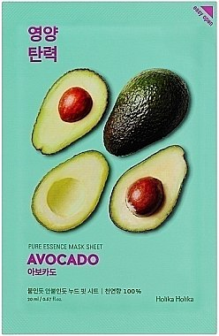 Gesichtspflegemaske mit Avocadoextrakt - Holika Holika Pure Essence Mask Sheet Avocado — Bild N1