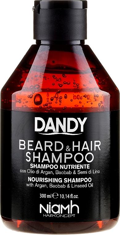 Bart- und Haarshampoo mit Argan- und Baobaböl - Niamh Hairconcept Dandy Beard & Hair Shampoo — Bild N1