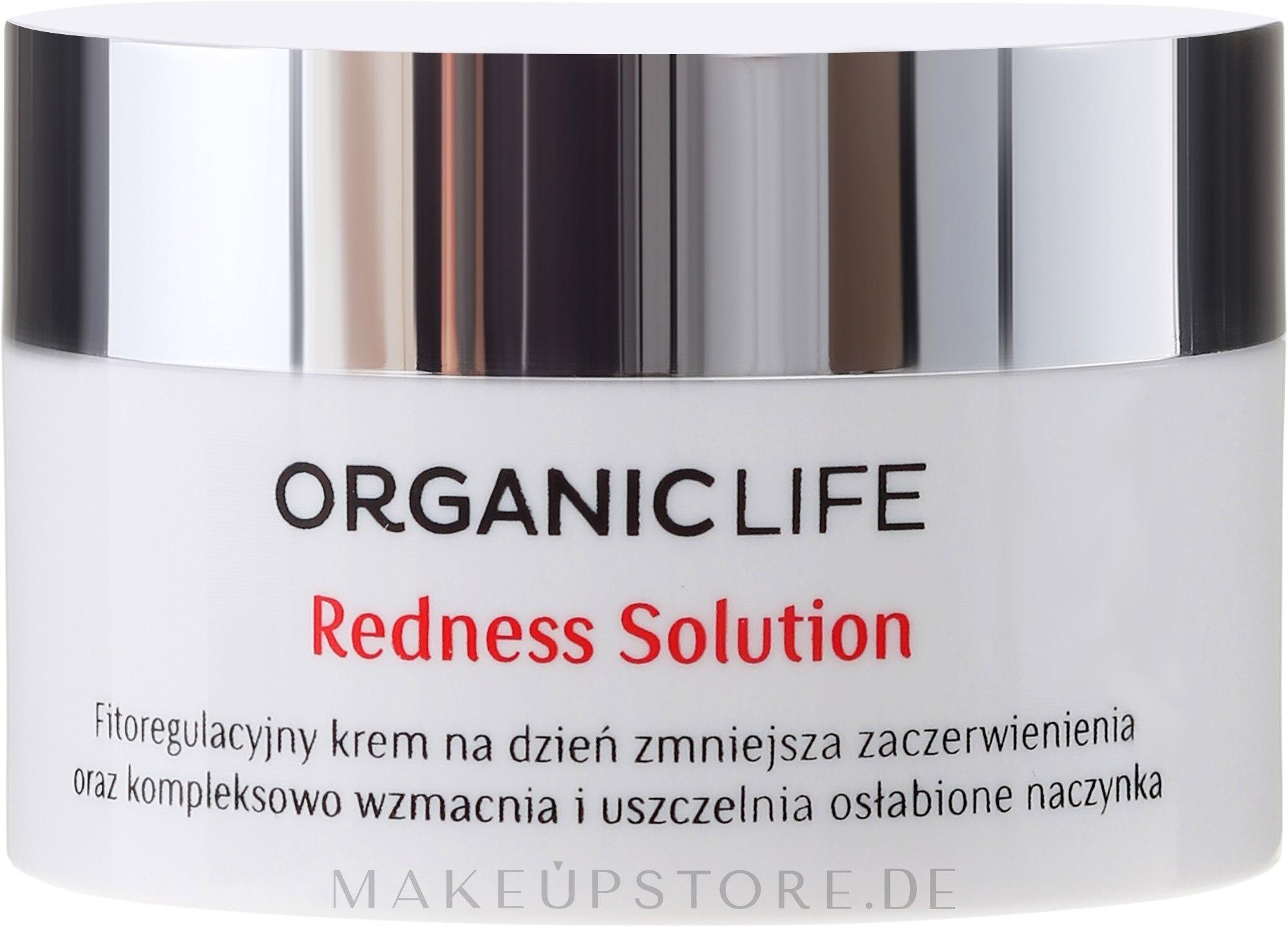 Bio Tagescreme mit Hagebuttenextrakt - Organic Life Dermocosmetics Redness Solution — Bild 50 g