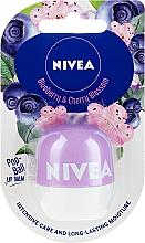Düfte, Parfümerie und Kosmetik Lippenbalsam mit Blaubeer-Kirschblüten Duft - Nivea Pop-Ball Blueberry & Cherry Blossom Lip Balm