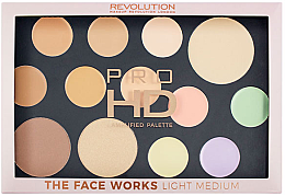 Düfte, Parfümerie und Kosmetik Make-up Palette - Makeup Revolution Pro HD The Works Palette