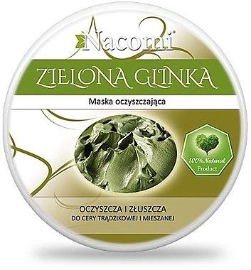Reinigungsmaske für empfindliche und normale Haut - Nacomi Green Clay — Bild N1