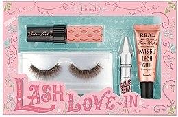 Düfte, Parfümerie und Kosmetik Make-up Set (Mascara Mini 4g + Augenbrauengel 1,5g + Künsliche Wimpern 2St. + Kleber 7ml) - Benefit Lash Love In
