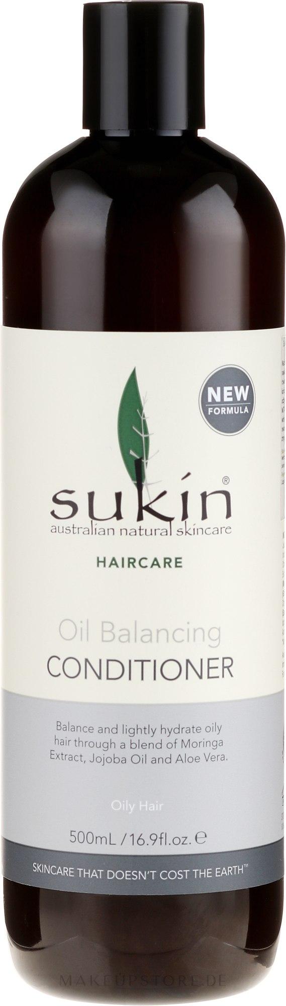 Pflegende und erfrischende Haarspülung für fettiges Haar - Sukin Oil Balancing Conditioner — Bild 500 ml