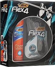 Düfte, Parfümerie und Kosmetik Kosmetikset - Bic Flex 4 Comfort (Rasierer/4St. + Rasierschaum/200ml)
