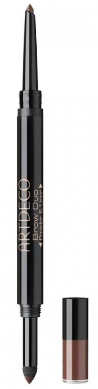 2in1 Wasserfester Augenbrauenpuder und -stift - Artdeco Brow Duo Powder & Liner — Bild N1