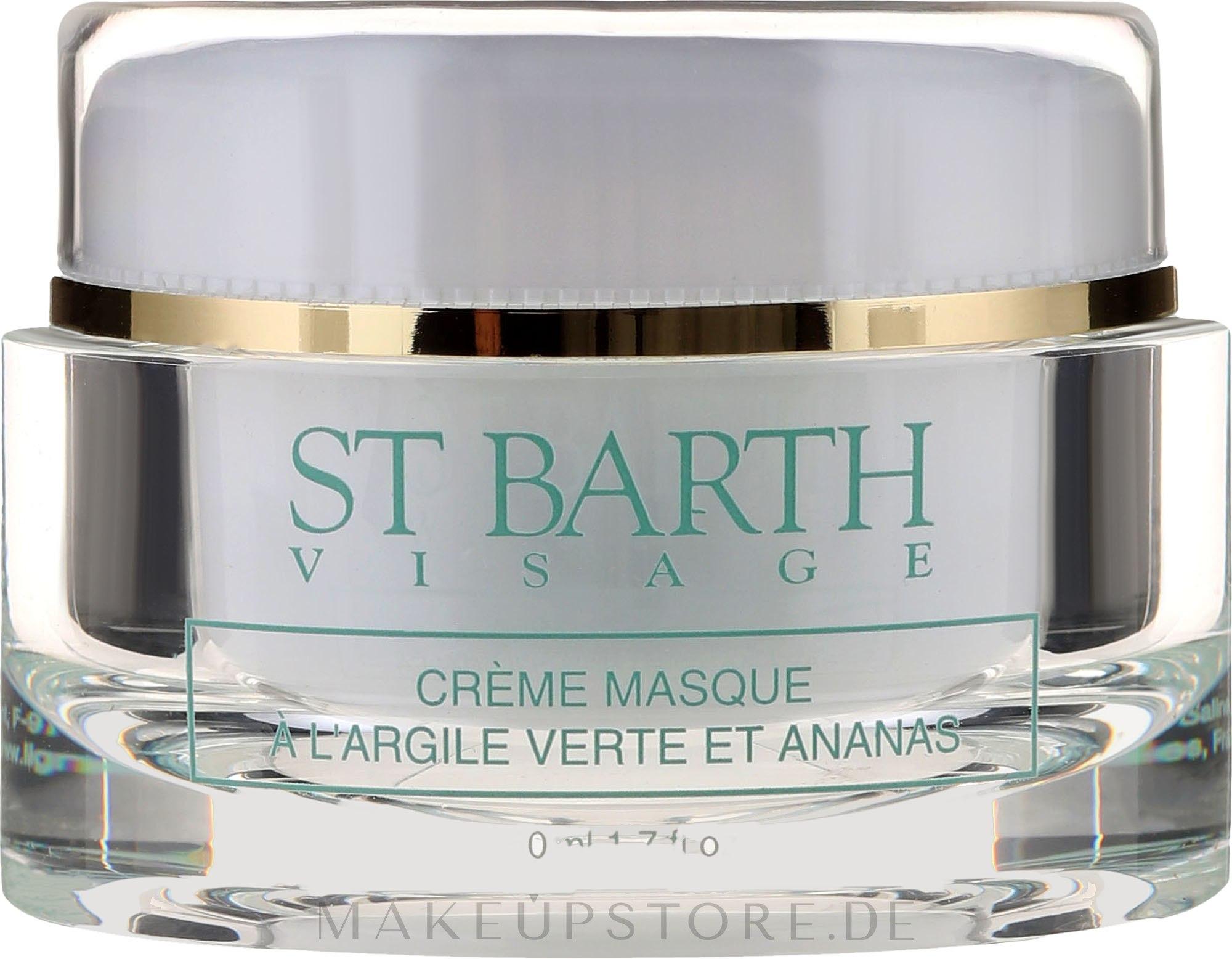 Gesichtscreme-Maske mit grüner Tonerde und Ananas - Ligne St Barth Cream Mask With Green Clay And Pineapple — Bild 50 ml
