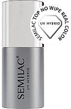 Düfte, Parfümerie und Kosmetik Top für UV Nagellacke ohne Schwitzschicht - Semilac Top No Wipe Real Color