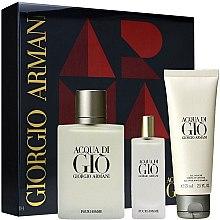 Düfte, Parfümerie und Kosmetik Giorgio Armani Acqua Di Gio Pour Homme - Duftset (Eau de Toilette 100ml + Eau de Toilette 15ml + Duschgel 75ml)