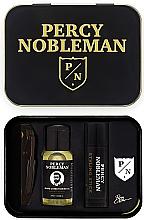 Düfte, Parfümerie und Kosmetik Bartpflegeset - Percy Nobleman (Klappkamm 1St. + Bartöl 10ml + Bartwachs 5ml + Anstecker für das Revert)