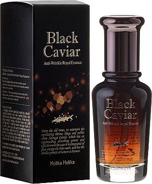Anti-Aging Essenz für das Gesicht mit schwarzem Kaviar Extrakt - Holika Holika Black Caviar Anti-Wrinkle Royal Essence — Bild N1