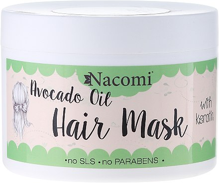 Haarmaske mit Keratin und Avocadoöl - Nacomi Natural With Keratin & Avocado Oil Hair Mask