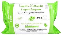 Düfte, Parfümerie und Kosmetik Biologisch abbaubare Feuchttücher für Babys mit Olivenöl - Alphanova Bebe