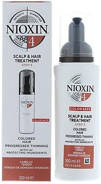 Pflegende Maske für coloriertes und dünner werdendes Haar - Nioxin Color Safe System 4 Scalp Treatment — Bild N1