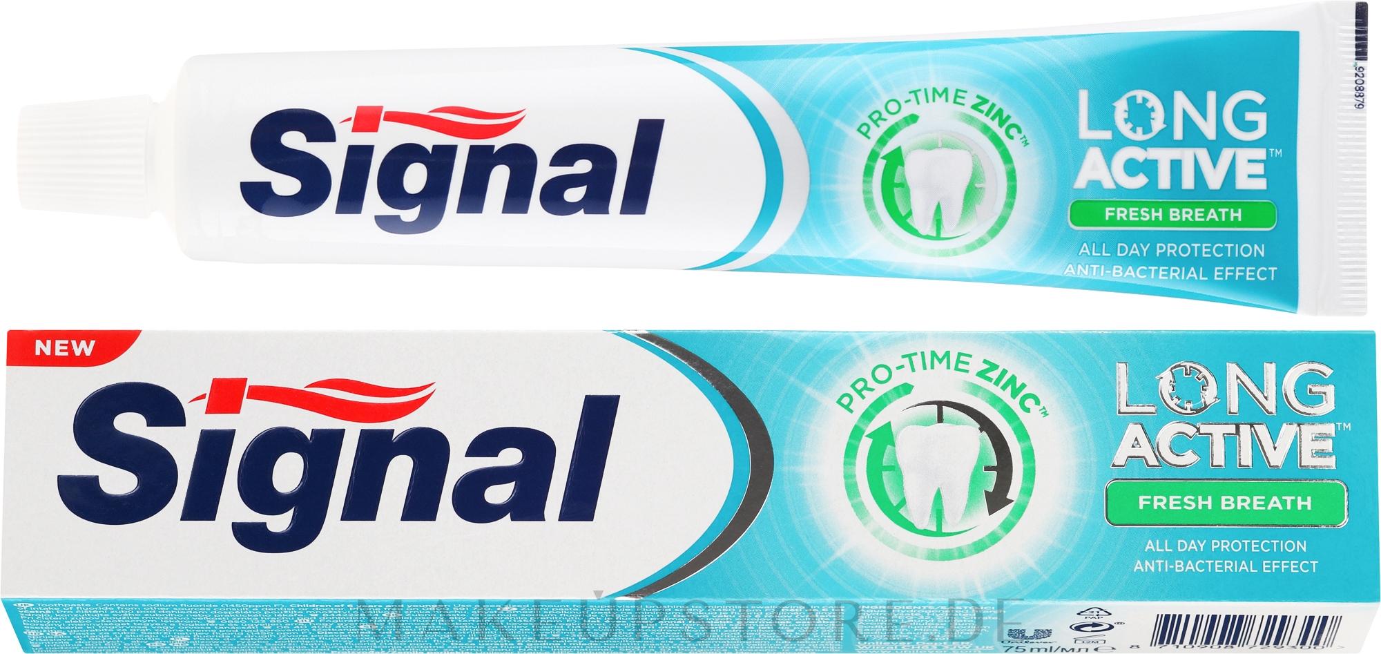 Zahnpasta für einen frischen Atem - Signal Long Active Fresh Breath Toothpaste — Bild 75 ml