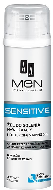 Intensiv feuchtigkeitsspendendes Rasiergel für empfindliche Haut - AA Men Sensitive Moisturizing Shaving Gel — Bild N1