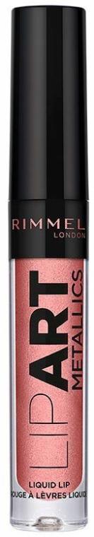 Flüssiger Lippenstift - Rimmel London Lip Art Metallic Liquid Lipstick — Bild N1