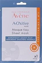 Antioxidative und glättende Tuchmaske mit Provitaminen C und E für strahlende Haut - Avene A-Oxitive Mask — Bild N1