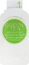 Zuckerpeeling für schöne Hände und Nägel mit grünem Tee - Voesh Mani In A Box Green Tea (10 g) — Bild N3