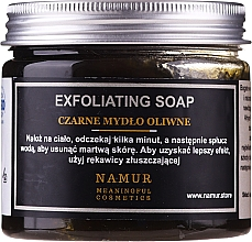 Düfte, Parfümerie und Kosmetik Schwarze Seife mit Olivenöl - Namur Black Exfoliating Soap