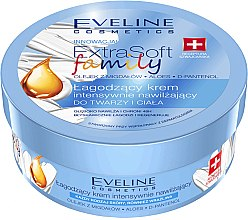 Intensiv feuchtigkeitsspendende und beruhigende Körper- und Gesichtscreme - Eveline Cosmetics Extra Soft Family Cream — Bild N1